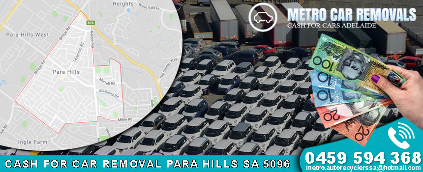 Cash For Car Removal Para Hills SA 5096
