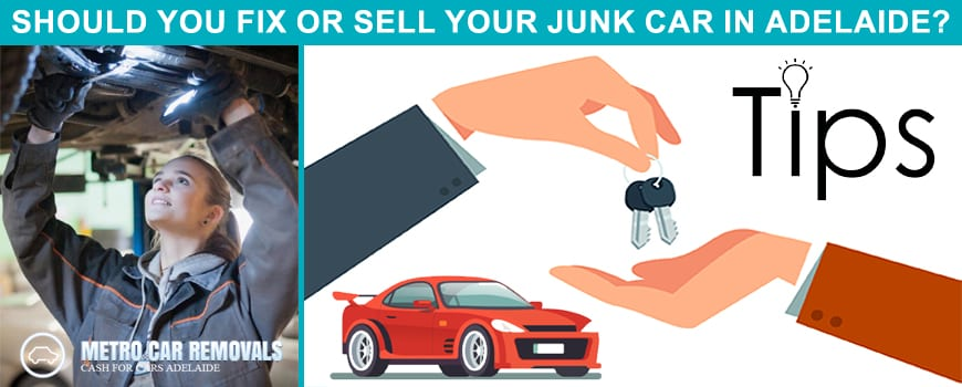 Should You Fix Or Sell Your Junk Car In Adelaide, SA For Faulty Engine
