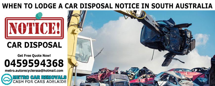 Car Disposal Notice SA